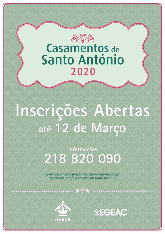 Casamentos de Santo António 2020