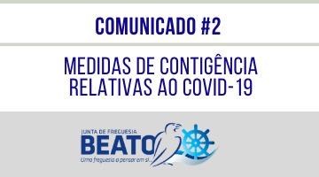COMUNICADO #2 – Medidas Preventivas relativas ao COVID-19