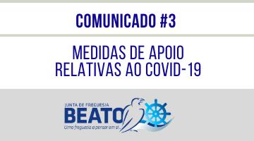 COMUNICADO #3 – Medidas Preventivas relativas ao COVID-19