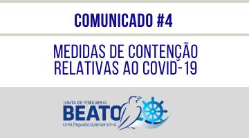 COMUNICADO #4 – Medidas Preventivas relativas ao COVID-19