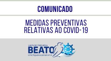 COMUNICADO – Medidas Preventivas relativas ao COVID-19