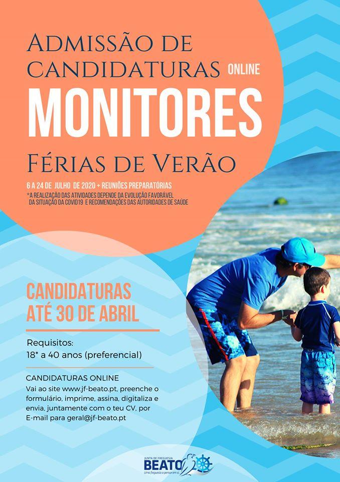 Admissão de Candidaturas Online para Monitores