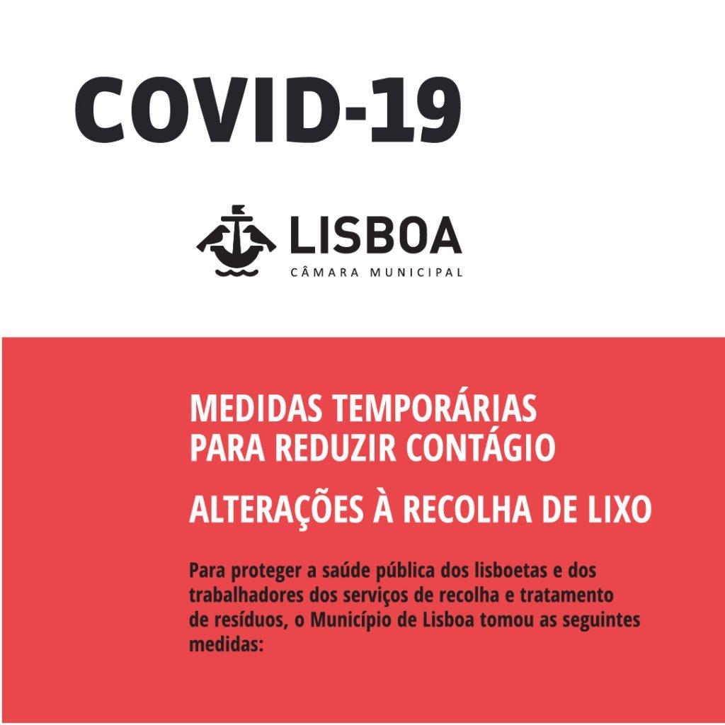 CML – Medidas temporárias para reduzir contágio | Alterações à Recolha de Lixo