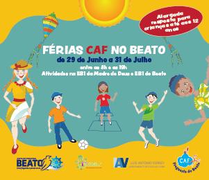 ABERTAS INSCRIÇÕES ONLINE PARA FÉRIAS [CAF] NO BEATO | DE 9 A 15 DE JUNHO