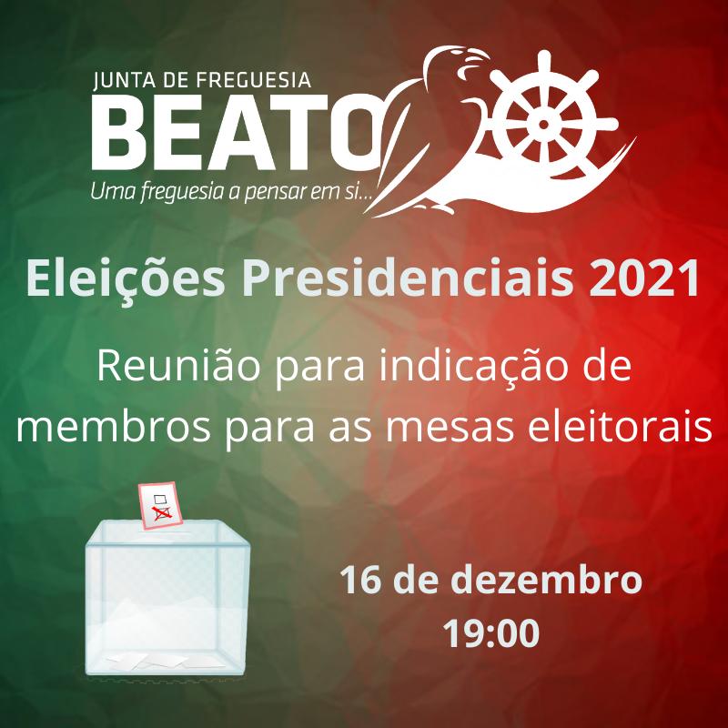 Reunião para indicação de Membros para as Mesas Eleitorais – Presidenciais 2021